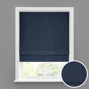 Linen Look Denim Blackout Roman Blind