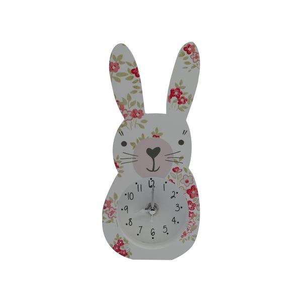Katy Rabbit Clock Pink