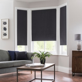 Montreal Charcoal Blackout Roller Blind