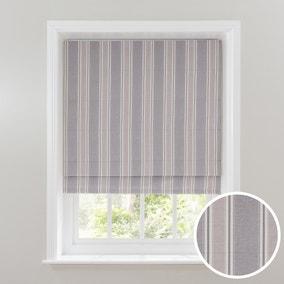 Padstow Grey Stripe Blackout Roman Blind