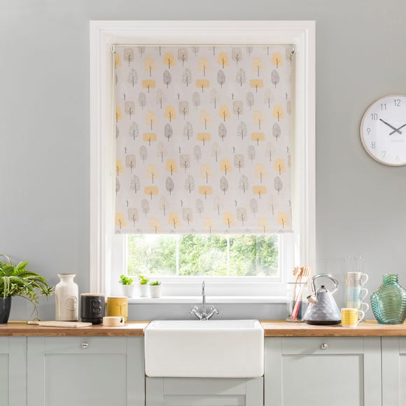 Scandi Trees Blackout Stain Resistant Roller Blind Multi coloured undefined
