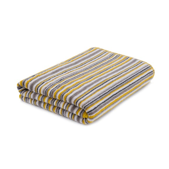 Stripes Mustard Bath Sheet Mustard