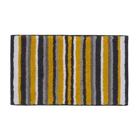 Stripes Mustard Bath Mat