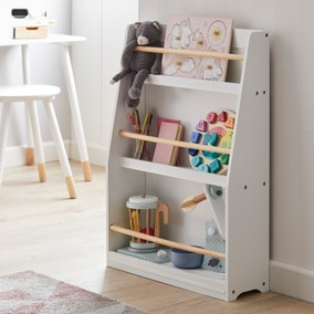 Kids White Bookcase