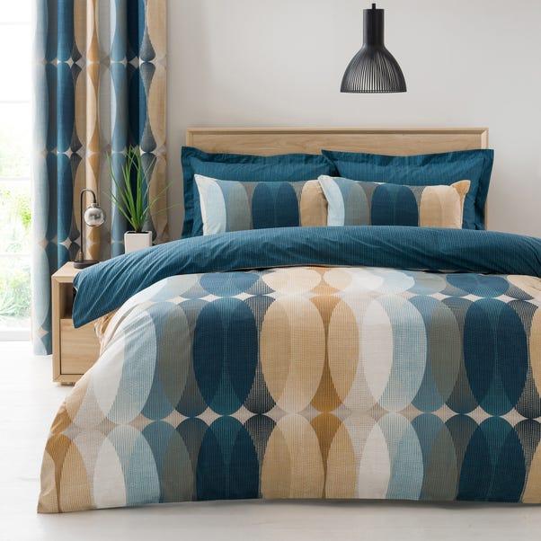 Elements Elijah Blue Reversible Duvet Cover and Pillowcase Set  undefined