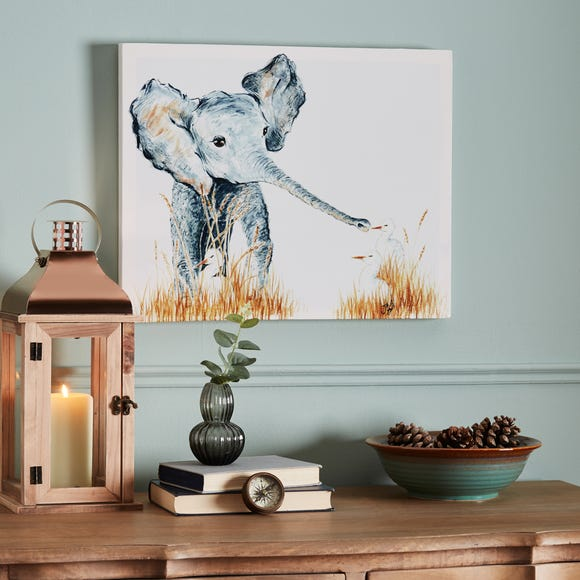 Elephant and Duck Canvas Grey