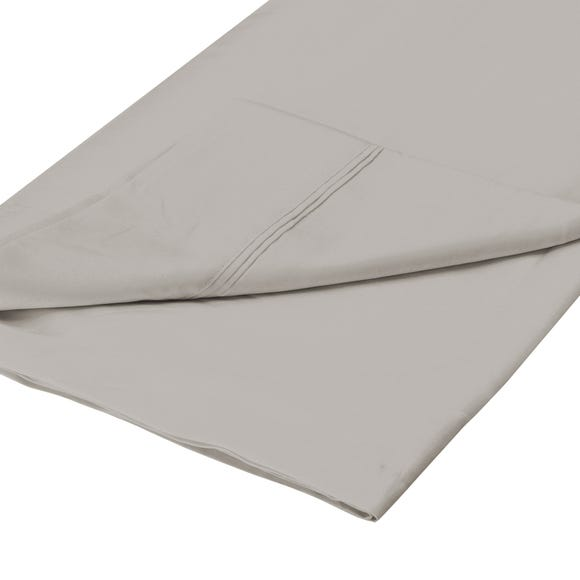 Cotton Rich Sateen Flat Sheet Silver undefined