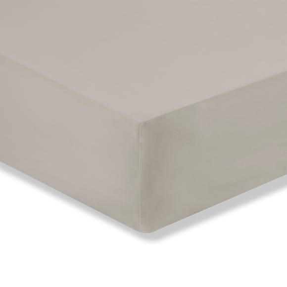 Cotton Rich Sateen Fitted Sheet Silver undefined