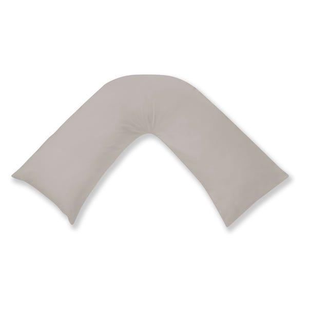 Cotton Rich Sateen V-Shaped Pillowcase Silver