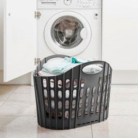 Addis Fold Flat Grey Laundry Basket