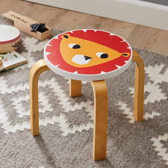 Jungle Friends Lion Stool Orange