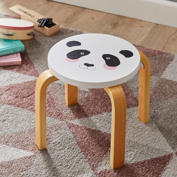 Panda Stool Black and white