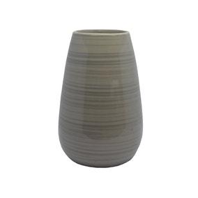 Natural Brushed Bands Ceramic Vase