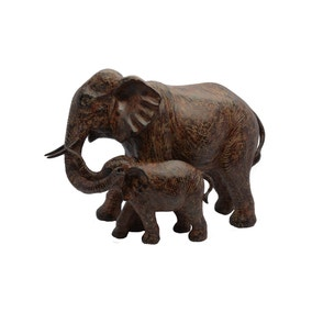 Dorma Mother and Baby Elephant Sculpture