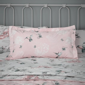 Heavenly Hummingbird Blush Oxford Pillowcase