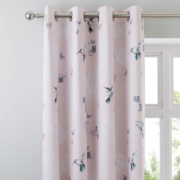 Heavenly Hummingbird Blush Blackout Eyelet Curtains  undefined