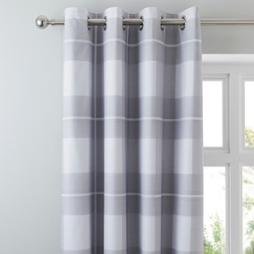 Colby Grey Blackout Eyelet Curtains