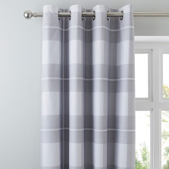 Colby Grey Blackout Eyelet Curtains Grey undefined