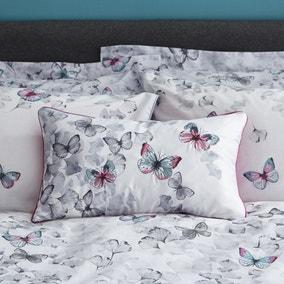 Ginkgo Butterfly White Cushion