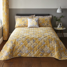 Ashbourne Ochre Bedspread