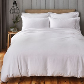 Chester White Waffle 100% Cotton Duvet Cover and Pillowcase Set