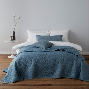 Pebble Teal Bedspread