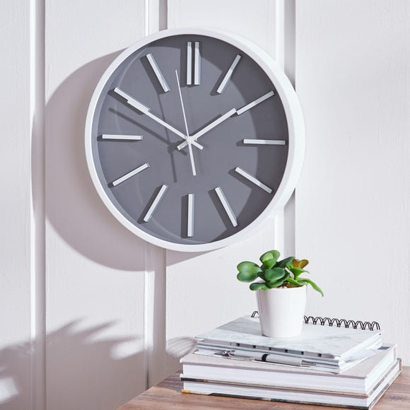 Modern 35cm Wall Clock Grey Grey