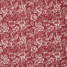 Ashcombe Floral Red Fabric