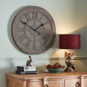 Wooden 60cm Wall Clock