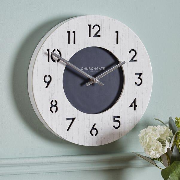 Nautical 26cm Wall Clock White Cream