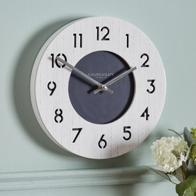 Nautical 26cm Wall Clock White