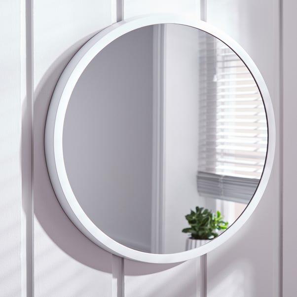 Elements Round Wall Mirror 56cm White White undefined