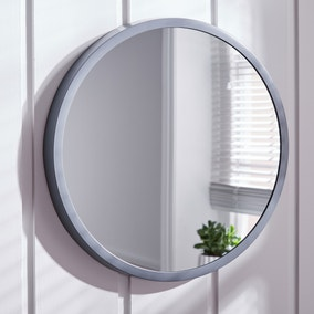 Elements Round Wall Mirror 56cm Grey