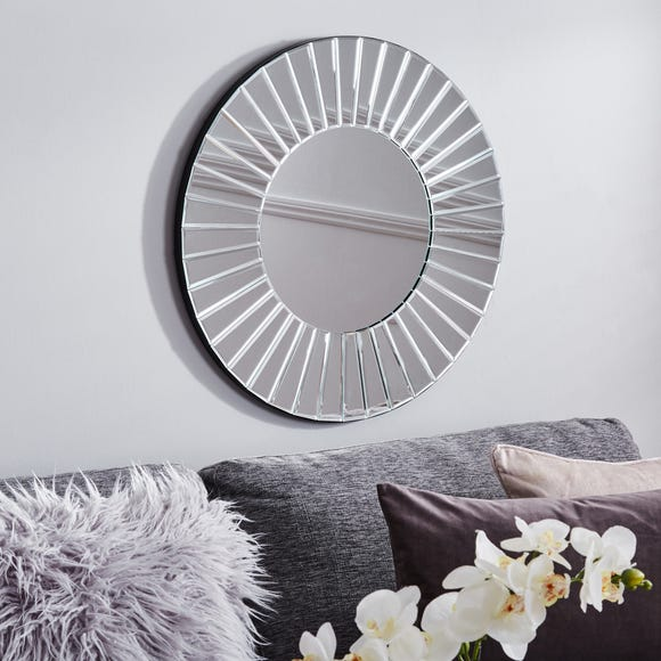 Round Wall Mirror 65cm Clear
