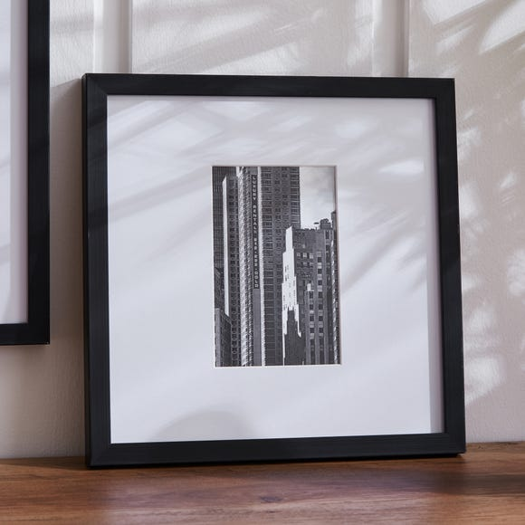 "Black Oversized Square Mount Frame 6""x 4"" (15cm x 10cm) Black"