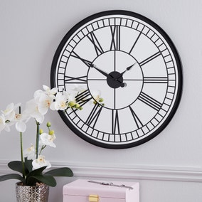 Mirrored 57cm Wall Clock