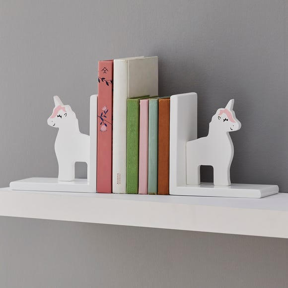 Unicorn Bookends White