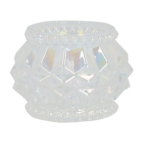 Geo Lustre Glass Tealight Holder