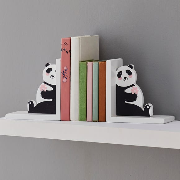 Panda Bookends Black and White