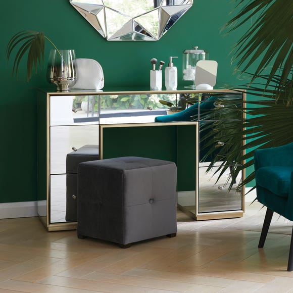 Harriet Mirrored Dressing Table Silver