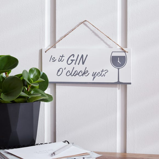 Gin O Clock Plaque Cream