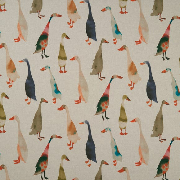 Duck Riverside Fabric Natural MultiColoured