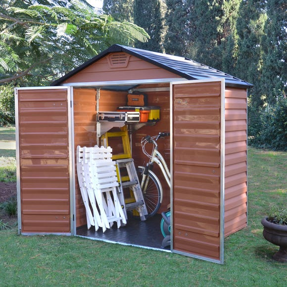 5ft x 6ft Palram Skylight Plastic Apex Shed