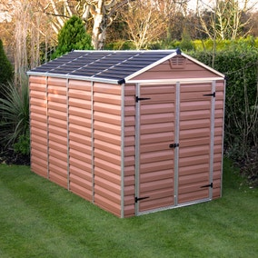 6ft x 10ft Palram Skylight Plastic Apex Shed