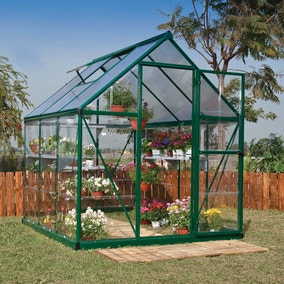 6ft x 6ft Palram Green Nature Plastic Hybrid Greenhouse