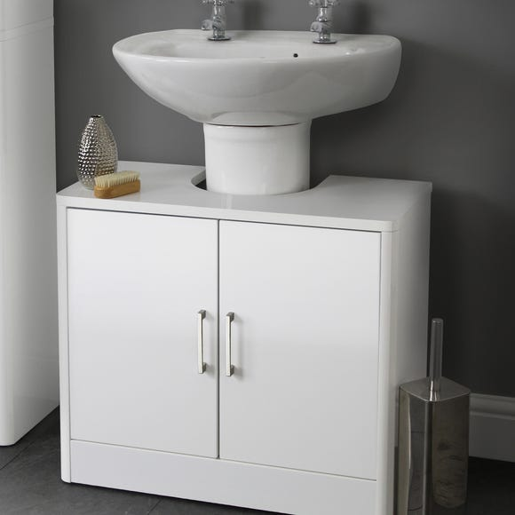 Sicily White Bathroom Vanity Unit White