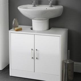 Sicily White Bathroom Vanity Unit