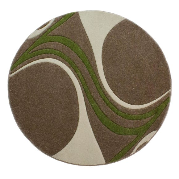 Mirage Circle Rug Mirage Lime (Green) undefined