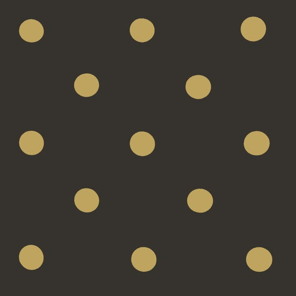 Black and Gold Spot PVC Black
