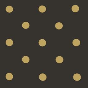 Black and Gold Spot PVC